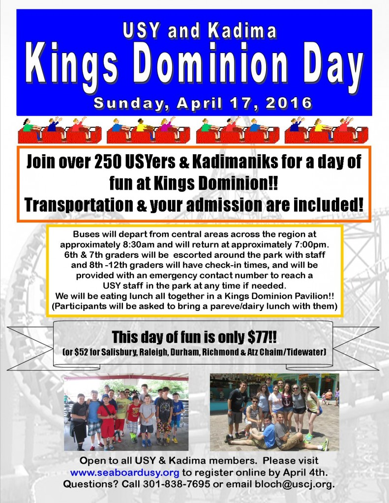 Kings Dominion Day 2016 Flyer